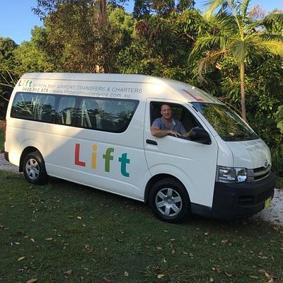 Express Shuttle bus from Coolangatta Airport to Byron Bay