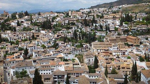 El Albaicin depuis l'Alhambra