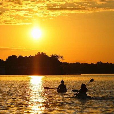 Kayak in Peten Itza Lake