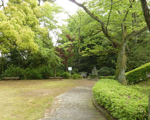 Small area for picnicking and lantern
