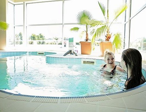 The hydrotherapy pool is perfect for winding down