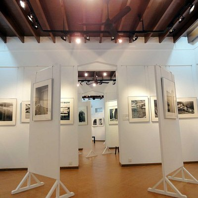 The gallery occupies 1600 sq feet of the building.