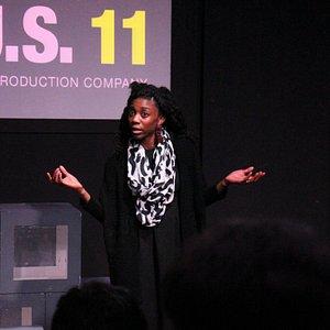Performer Siovhan Christensen at B.U.S. 11, where the Burg's top theater citizens create a origi