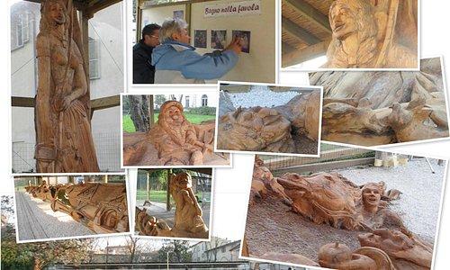 Il Bagno nella Favola (inaugurazione grande scultura di G.Palli)