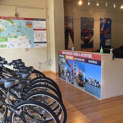 Golden Gate Bridge Bike Rentals Store (Inside)