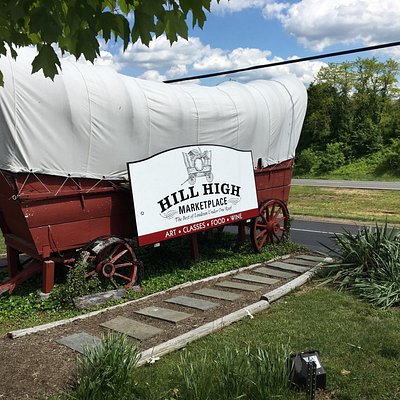 Old  Covered Wagon at Mom's Apple Pie at Hill High