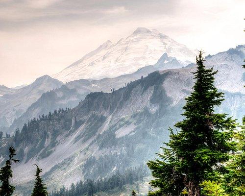 Mt. Baker in Smoke from Artist Point