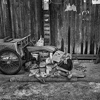 a local woman taking a nap