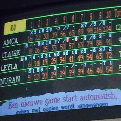 Great day out bowling.