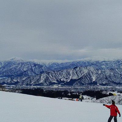 スキー場からの眺め。