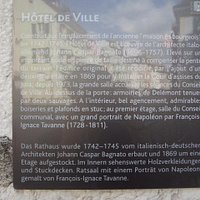 Hôtel de Ville de Delémont - plaque informations