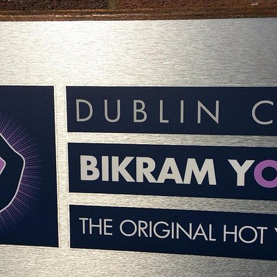 Sign for Dublin City Bikram Yoga, next door to Starbucks on 2nd Floor