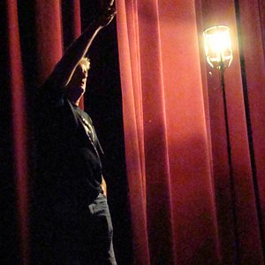 """The """"ghost light"""" at the Haunted Lincoln Theater."""