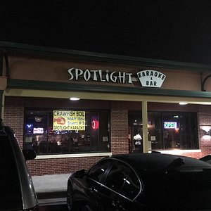 In a strip mall lies spotlight. Large selection of songs but don't trust the TelePrompTer will g