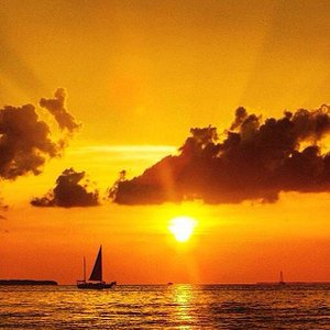 Floridays sailing by the sunset
