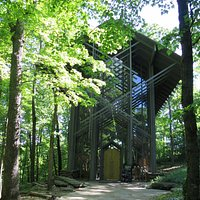 A beautiful architecture built in the middle of the woods