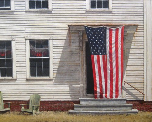 """""""The Fifth of July"""" oil on linen 30"""" x 48"""" by Hale Johnson represented by Tilting for over 40 ye"""