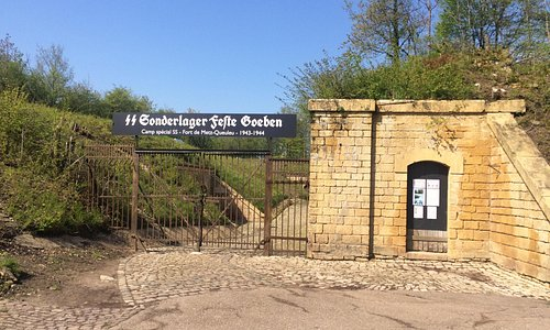 Entrée du camp spécial nazi du fort de Queuleu