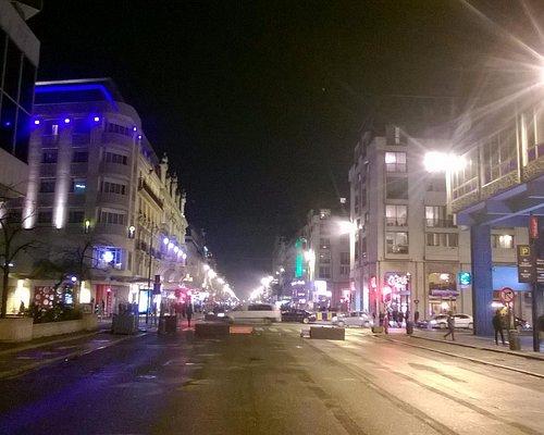 Vista de la calle Anspach, en las inmediaciones del Shopping