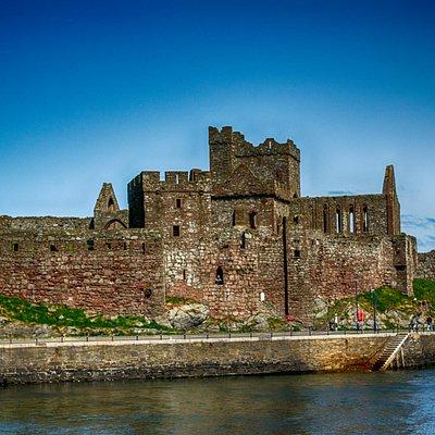 Peel Castle seen from Peel