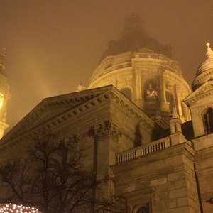 Foggy Entrance to Christmas Markt