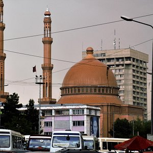 While driving past the mosque