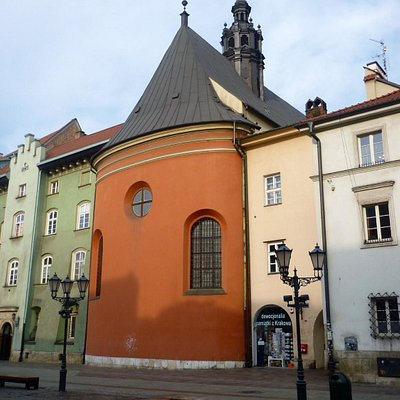 St. Barbara's - exterior - the red  building facing Little Market Square