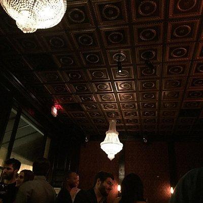 Very cool decor, speakeasy vibe