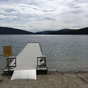 Scenic drive outside of Kalispell, no real services, but lake access. Not much beyond here, exce