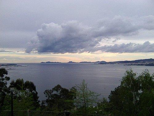 Ria de Vigo with Cies islands from Monte da Guia