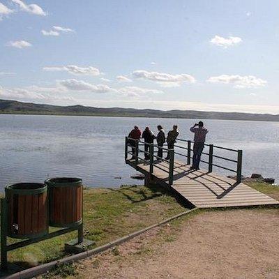 Vista del Lago Rapel desde la Plaza Gruta de Lourrdes