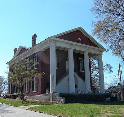 Old Csmpbell County Courthouse built in 1870