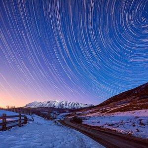 Mountains, Moon & Stars