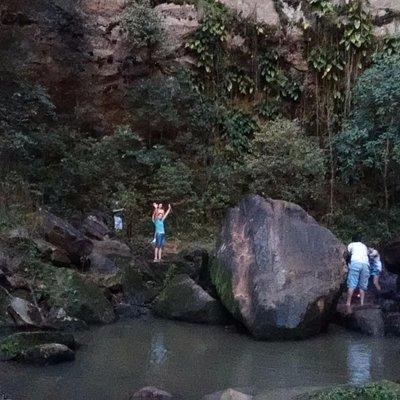 Foto tirada da base da cachoeira