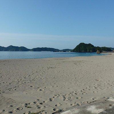 砂浜からの風景