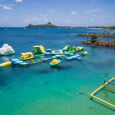 Splash Island Water Park St Lucia aerial view
