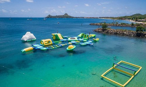 Splash Island Water Park St Lucia aerial view
