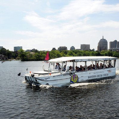 Copley Squire on the river with the Boston Skyline