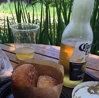 Bomboloni and beer