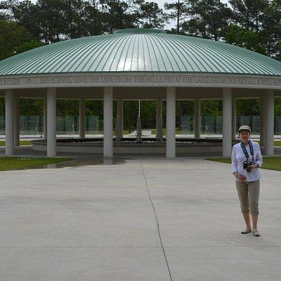The Vietnam memorial at Lejeune Memorial Gardens