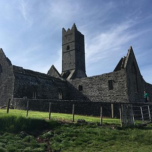 The Franciscan Friary at Rosserk from the bank of the Moy