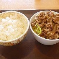 """""""牛丼ライト""""と""""ライス(並)"""""""