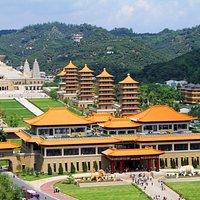 Bird's eye view of the Buddha Memorial Center