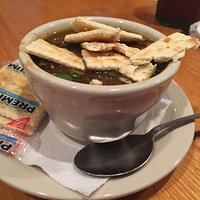 the wonderful Gumbo- make sure to order a bowl!