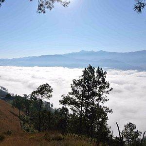 등산 도중 사진