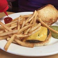 Cheese burger & frieds