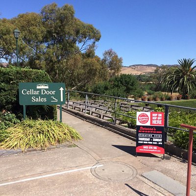 Look for these signs around the Barossa on where you can hop on and hop off the Barossa Explorer