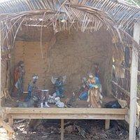 Broken Nativity scene in March