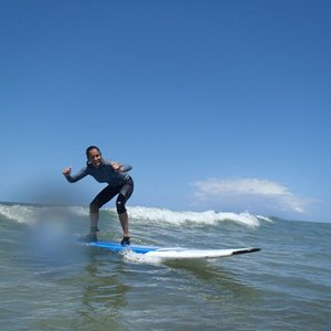 Hang loose while surfing