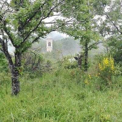 Santuario visto dalla cima